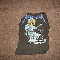 "Metallica - TShirt or Longsleeve - VINTAGE: Metallica ""Doris and scales"" shirt. (Picture cut out) Will trade/Sell"