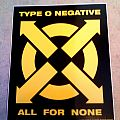 """Other Collectable - Type o negative sticker """"ALL FOR NONE"""" official blugrape"""