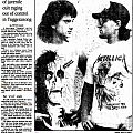 Metallica - Other Collectable - news paper article - 1990 - Heavy Metal Cult