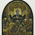 "GRUESOME ""Twisted Prayers"" Tombstone Woven Patch"