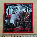 """OBITUARY """"Back From The Dead"""" Woven Patches"""