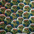 """AUTOPSY """"Skull Grinder"""" Round Woven Patches"""