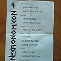 Necronomicon setlist Other Collectable