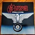 Saxon - Tape / Vinyl / CD / Recording etc - Saxon - Wheels Of Steel swirl vinyl