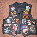 My Ozzy Battle Vest and my Ozzy Osbourne Backpatch Collection