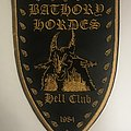 Bathory Hordes Hell Club Leather Patch