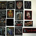 thrash metal woven patches