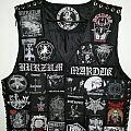 Leather vest black metal