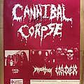 Cannibal Corpse - Other Collectable - Cannibal Corpse - European Tour 1996 Poster Gig