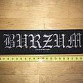 Burzum - Silver Logo Patch OG 1997