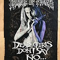 Cradle Of Filth - Patch - Cradle Of Filth - Dead Girls Don't Say No 1997 Backpatch
