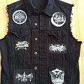 Simple Black Vest Battle Jacket