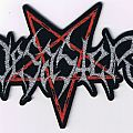 "Desaster - Patch - DESASTER ""shaped Logo"" official woven Patch"