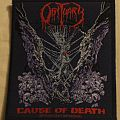 "Obituary ""Cause of Death"" official woven patch"