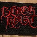 Black Feast logo patch