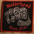 """Motörhead """"Iron Fist"""" woven patch"""