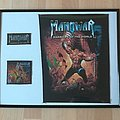 Manowar - Patch - Manowar , Warriors of the World Backpatch and Patches , framed