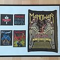 Manowar , Rubber Backpatch framed with small Patches