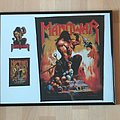 Manowar , Agony & Ecstasy Backpatch framed with small Patches