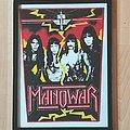 Manowar - Patch - Manowar , Band Backpatch , Bootleg , framed