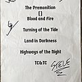 SIGNED Seven Sisters setlist sheet Other Collectable