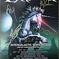 GloryHammer signed tour flyer