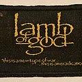 Lamb of God patch