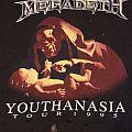 Megadeth YOUTHANASIA Tour 1995 t shirt