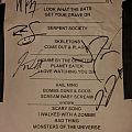 wednesday 13 signed setlist 2015 Other Collectable