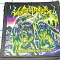 Toxic holocaust an overdose of death printed patch.
