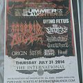 summer slaughter 2014 tour poster