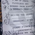 skeletonwitch 2014 signed setlist