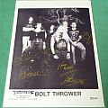 Other Collectable - Bolt Thrower - press photo, signed