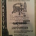 DEATH, tour flyer Other Collectable