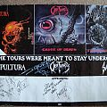 Other Collectable - Sepultura, Obituary, Sadus tour poster 1990, signed by Sepultura