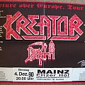 DEATH - KREATOR, tour poster 1990  ( my most wanted, ever ) Other Collectable