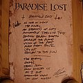 Paradise Lost setlist Other Collectable