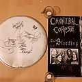 Cannibal Corpse - Other Collectable - Cannibal Corpse signed drumskin, from the bleeding time 1994