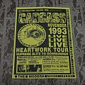 CARCASS / Australian tour flyer 1993 Other Collectable