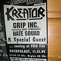Kreator/Grip Inc./Hate squad