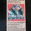 Saxon - Other Collectable - Saxon - Tourticket 86