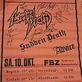 Living Death - Other Collectable - Living death - Signed Tourposter