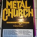 Metal Church - Other Collectable - Metal Church - tourposter 1989