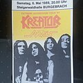 Kreator - Other Collectable - Kreator - Tourticket 89