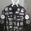 Finished Black and White Battle Jacket