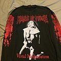 Cradle Of Filth - Vestal Masturbation 1995 Tour Longsleeve  TShirt or Longsleeve