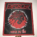 Enforcer - Patch - Enforcer Death By Fire patch red border