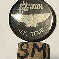 Saxon - Pin / Badge - Saxon UK Tour button