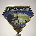 Blind Guardian - Patch - Blind Guardian Follow The Blind diamond patch gold glitter border