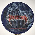 Benediction - Patch - Benediction Transcend The Rubicon circle patch blue border